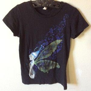 Hot Topic Tops - Tatoo Fairy Black T-Shirt